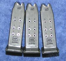 3 Glock 27 mags 9 round. Gen 4 factory Glock. New mag X 3. magazines