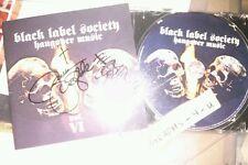 Zakk Wylde Signed Black Label Society Autograph COA  Proof