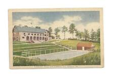 CORNELIA GA Community House & Pool Vtg 1944 Postcard