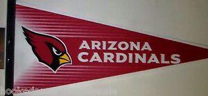 "Arizona Cardinals NFL Felt Pennant Brand New Full Size 12 X 30"""