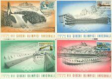 GIOCHI OLIMPICI INVERNALI Cortina 1956 MANCIOLI serie completa annullo speciale