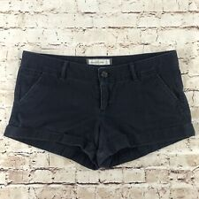 Abercrombie & Fitch Blue Micro Cuffed Shorts Sz 6