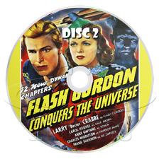 Flash Gordon Conquers the Universe (1940) Movie Serial Cliffhanger (2 x DVD)