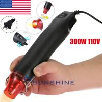 Mini DIY Heat Gun Electric Nozzles Tool Hot Air Gun Embossing Drying Paint US