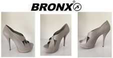 Ladies Heeled Shoes Bronx Toffy Shiny Size Uk6 New Free Delivery