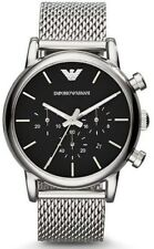 Emporio Armani  AR1811 Classic Round Gents Chronograph Stainless Steel Watch NIB