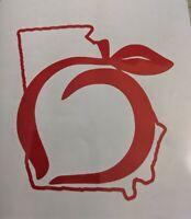 Georgia Peach Vinyl Decal Window Sticker 396