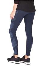 SPANX Side Stripe Leggings Large 10 12 Dark Blue Pull on Flattering Fit COMFY