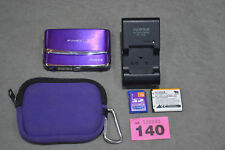 Fujifilm FinePix Z Series Z70 12.2MP Digital Camera Purple Complete Set Bundle