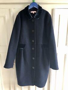 Girls Jigsaw Junior Navy Coat