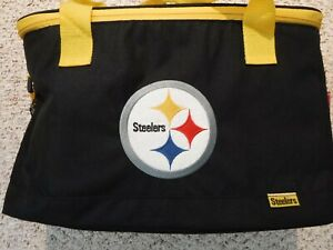 PITTSBURGH STEELERS RAWLINGS SOFT SIDE INSULATED SIDELINE COOLER BAG CARRY ALL