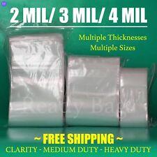 Clear Zip Lock Top Bags 2Mil 3Mil 4Mil Poly Plastic Seal Reclosable Baggies