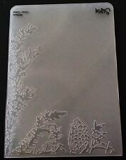 Sizzix Large Embossing Folder CHRISTMAS PINE LEAVES CORNER fits Cuttlebug