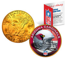 ARIZONA CARDINALS NFL 24K Gold Plated IKE Dollar US Coin * NFL LICENSED *