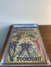 Fantastic Four #59 CGC 7.0 Dr Doom Inhumans Silver Surfer App 1967 Marvel
