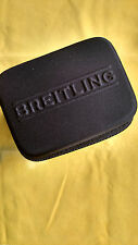 """BREITLING  TRAVEL WATCH CASE  ZIPPERED """"WITH BLACK POLISHING CLOTH"""""""