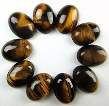 10PCS Beautiful unique brown tiger eye gemstone oval CAB cabochon Vk1886