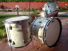 LUDWIG WHITE MARINE PEARL SUPER CLASSIC  vintage 1960  drum set kit BATTERIA
