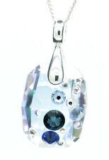 Plata Esterlina 925 Cristal Colgante y Collar