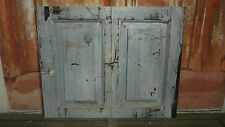 Pair of Old Victorian/ edwardian painted Cupboard doors C102a (34 x 27 1/2)