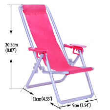 Folded Rose Beach Recliner Bed Chair For Barbie Doll Accessories Furniture Toy