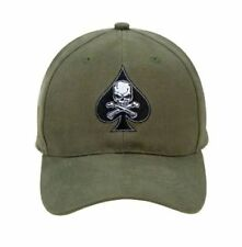 Olive Green US Army Military Vietnam Death Spade Ace of Spades Baseball Cap Hat