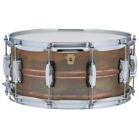 "Ludwig LC663 Copper Phonic Raw Patina Snare Drum with Imperial Lugs, 6.5"" x 14"""