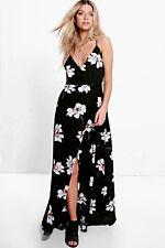 56c478e330f9 Boohoo Fiona Floral Wrap Maxi Dress Size 12 Multi UK FREEPOST