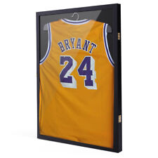 Sports Jersey Frame Box Wall Display /Case Rack Frame Locable Black