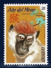 URUGUAY 2016 Stamp Chinese New Year, Year of the Monkey, Astrology,Animals