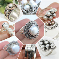 PEARL HANDMADE RINGS IN ALL SHAPE & SIZE (925 STERLING SILVER) INDEPENDENCE DAY
