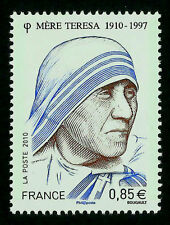 FRANCE, MOTHER TERESA OF CALCUTTA, MINT NEVER HINGED, YEAR 2010, ENGRAVED
