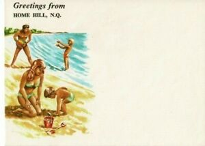 Stamp Australia Home Hill North Queensland tourist cover marlin fishing at back