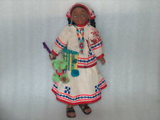 RARE HANDMADE FOLK ART CLOTH AND RUBBER DOLL IN MEXICAN? TRADITIONAL COSTUME