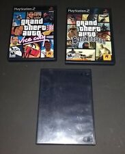 Lot of 3 Grand Theft Auto PlayStation 2 Games: San Andreas, Vice City, GTA 3