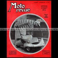 MOTO REVUE 1121 ★ TERROT 125 ETD ★ DOUBLE PISTON SALON DE BRUXELLES TRIAL 1952