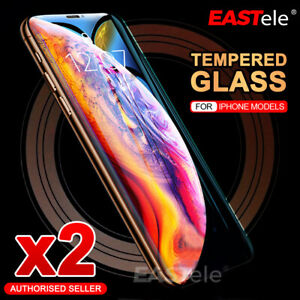 2xiPhone 13 12 11 Pro XS Max XR 8 Plus Tempered Glass Screen Protector For Apple
