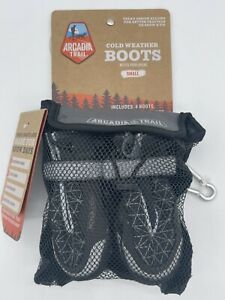Arcadia Trail Cold Weather Winter Boots Booties Gray Grey Size SMALL Dogs