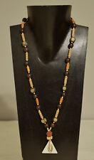 Necklace Indonesian Bone Pendant Mala Bead Horn Wood Beaded Necklace