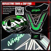 Real Carbon Fiber Gas Tank Fuel Cap Cover Guard 15-20 Ninja H2//H2R//ZX-10R ZX1000