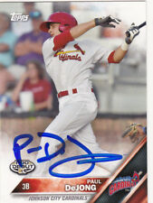 PAUL DeJONG JOHNSON CITY CARDINALS ST LOUIS SIGNED TOPPS PRO DEBUT BASEBALL CARD