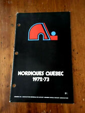 1972-73 Quebec Nordiques Press Guide - First Season WHA