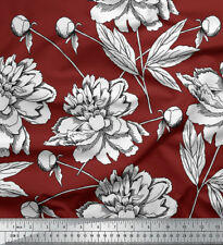 Soimoi Floral Printed Craft Sewing Cotton Fabric By The 1 Yard 58 Inches Wide