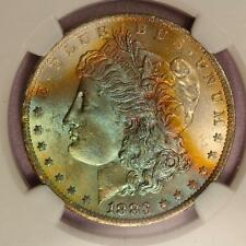 1883-O Morgan Silver Dollar *NGC MS64* Vibrant Rainbow Toning!