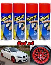 Performix Plasti Dip Matte Red 4 Pack Coating Spray 11oz Aerosol Cans Wheels