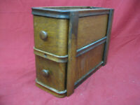Unique Antique Sewing Machine Oak Drawers in Frame #7
