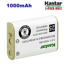 Kastar  HHR-P103 Cordless Phone Battery NI-MH 3.6V 1000mAh For Panasonic Type25