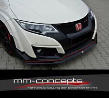 Cup Spoilerlippe CARBON für Honda Civic IX 9 Type R Schwert Frontspoiler V2 II