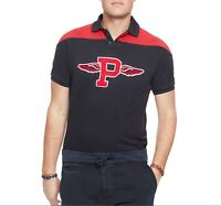 "NEW $98 POLO Ralph Lauren Flying Wings ""P"" Varsity Custom Fit Shirt XS X-SMALL"
