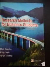 Research Methods For Business Students 4th Edition.